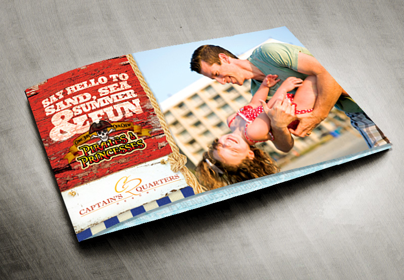 Captains Quarters Resort Brochure Design