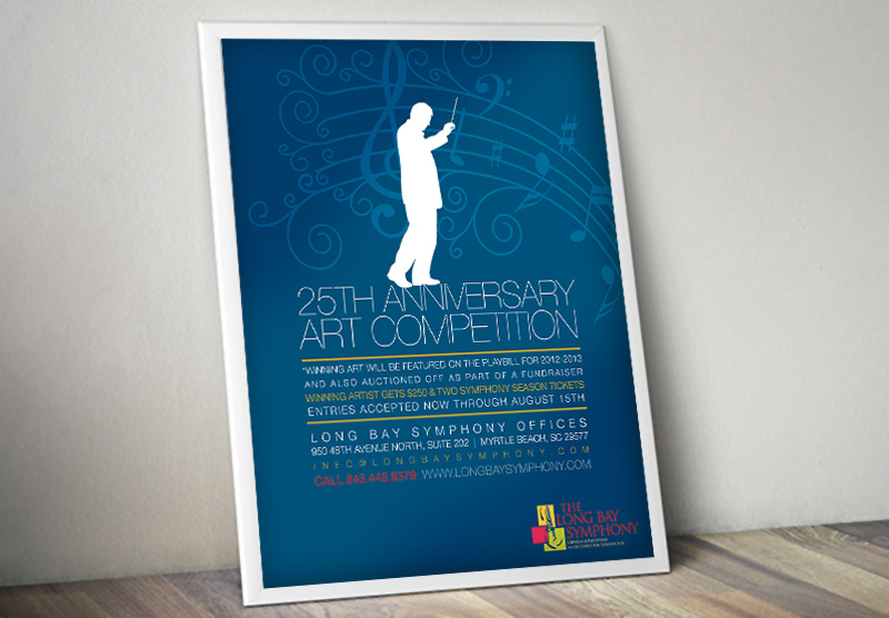 Poster design for The Long Bay Symphony of Myrtle Beach