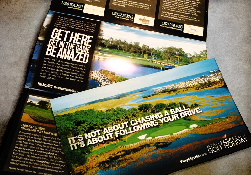 Myrtle Beach Golf Holiday Brochure / Direct Mail