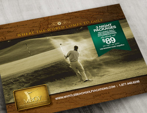 Myrtle Beach Golf Vacations Postcard