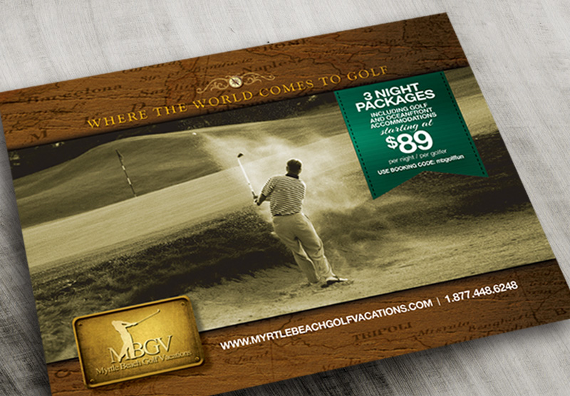Myrtle Beach Golf Vacations Print Ad