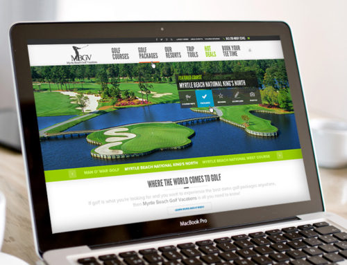 Myrtle Beach Golf Vacations Website