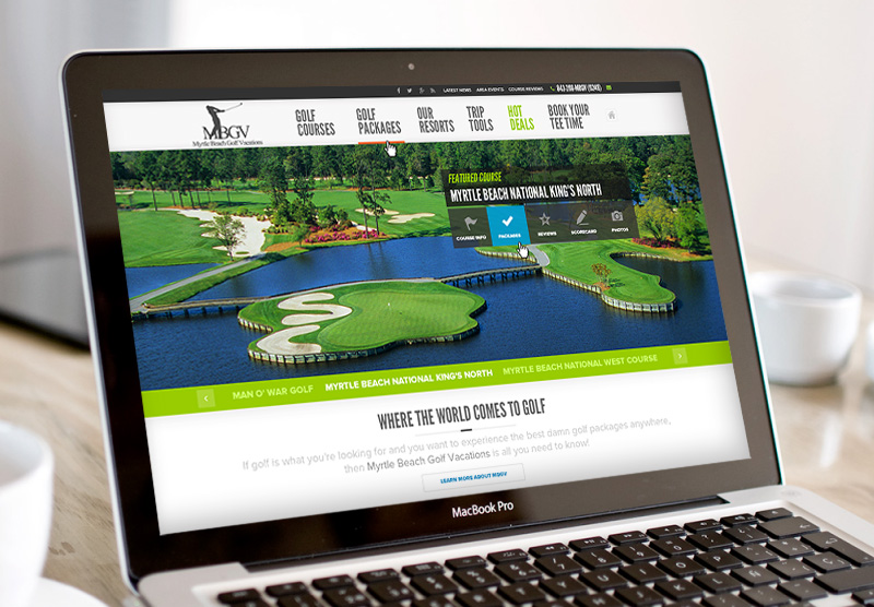 MyrtleBeachGolfVacations.com Website (Currently in Development)