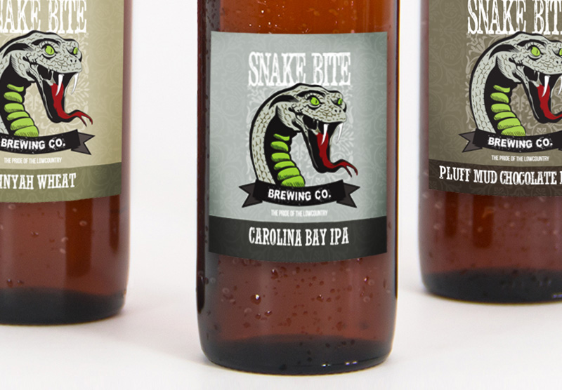 SnakeBite Brewing Co. Label Design